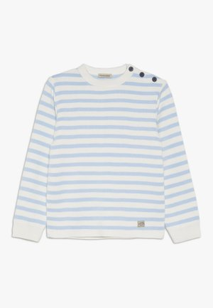 PULL RAYÉ - Strickpullover - light blue/nature