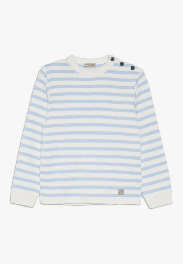 PULL MARIN RAYÉ FOUESNANT - Strickpullover - light blue/nature