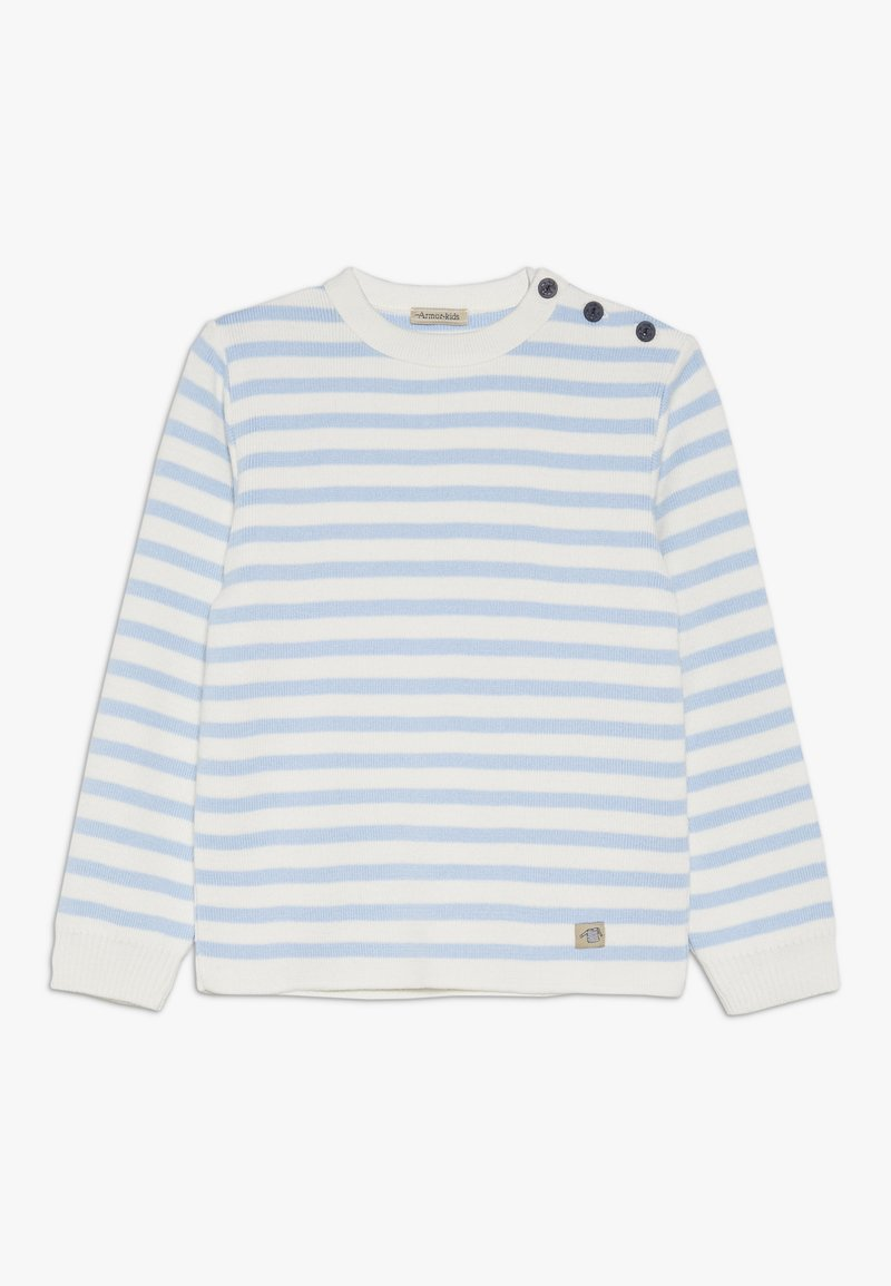Armor lux - PULL RAYÉ - Pullover - light blue/nature