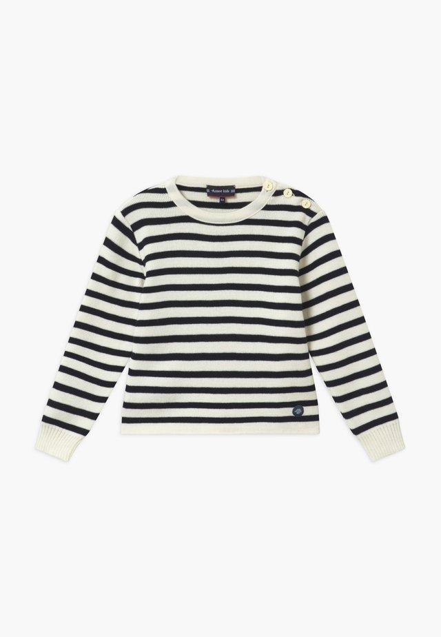 PULL MARIN RAYÉ FOUESNANT - Stickad tröja - dark blue / beige