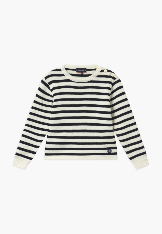 PULL MARIN RAYÉ FOUESNANT - Sweter - dark blue / beige