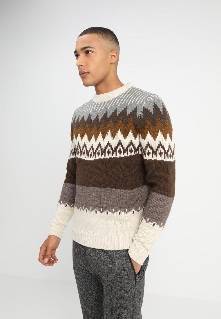 Anerkjendt - TOGGE KNIT - Jersey de punto - brown/beige/grey