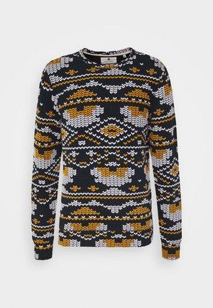 ARTHUR - Sweatshirt - dark blue/yellow/white
