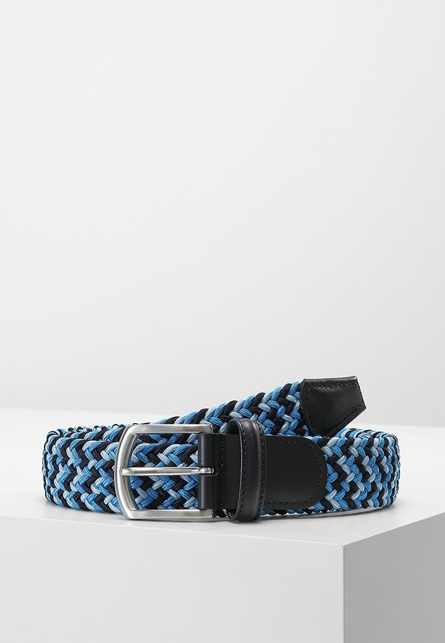 STRECH BELT UNISEX - Braided belt - multi blue