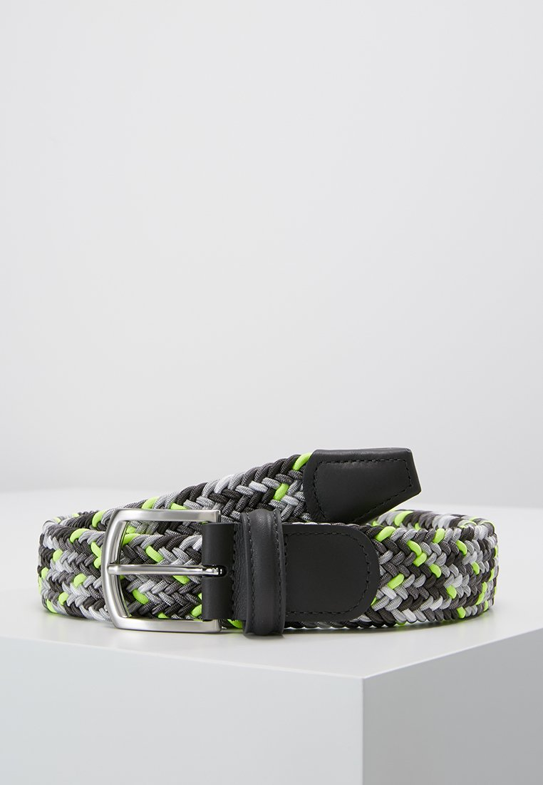 Anderson's - STRECH BELT - Braided belt - multicolored/grey/neon yellow