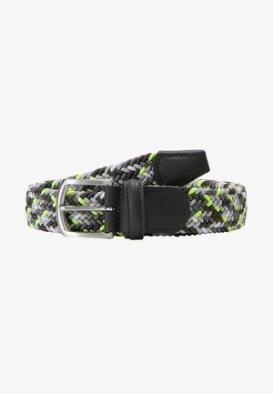 STRECH BELT - Pletený pásek - multicolored/grey/neon yellow