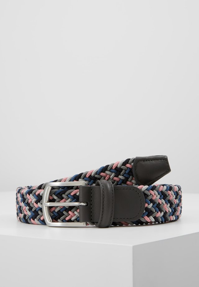 STRECH BELT - Gevlochten riem - multi-coloured