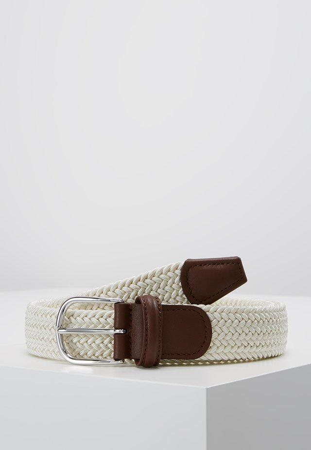 BELT - Flettet belte - off white