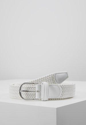 BELT - Pletený pásek - white