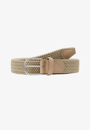 BELT - Pletený pásek - sand