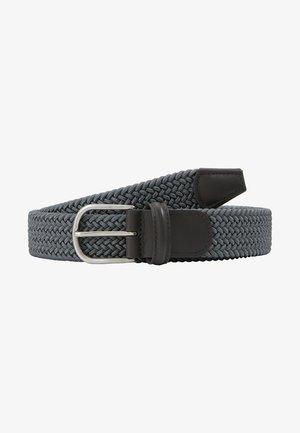 BELT - Pletený pásek - grey