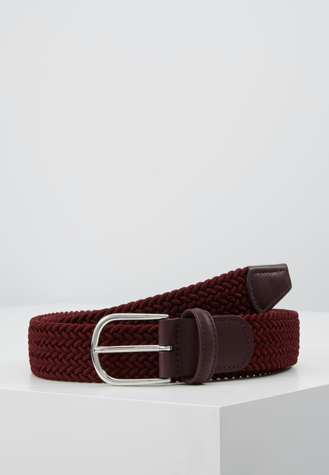 BELT - Braided belt - bordeaux
