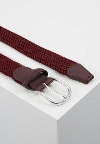 Anderson's - BELT - Pletený pásek - bordeaux - 2