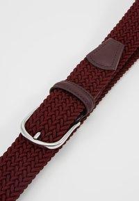 Anderson's - BELT - Pletený pásek - bordeaux - 5