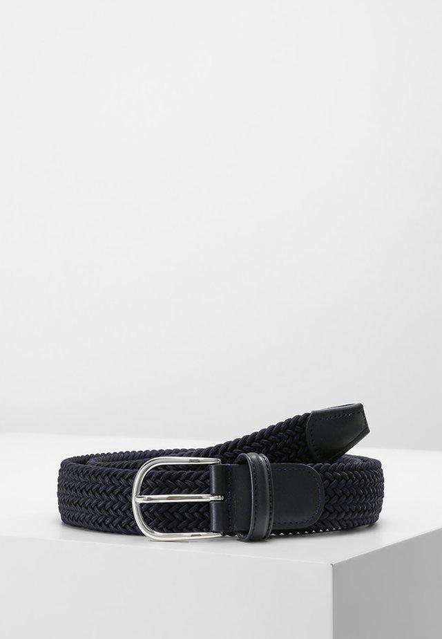 BELT - Pletený pásek - navy