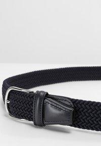 Anderson's - BELT - Pletený pásek - navy - 5