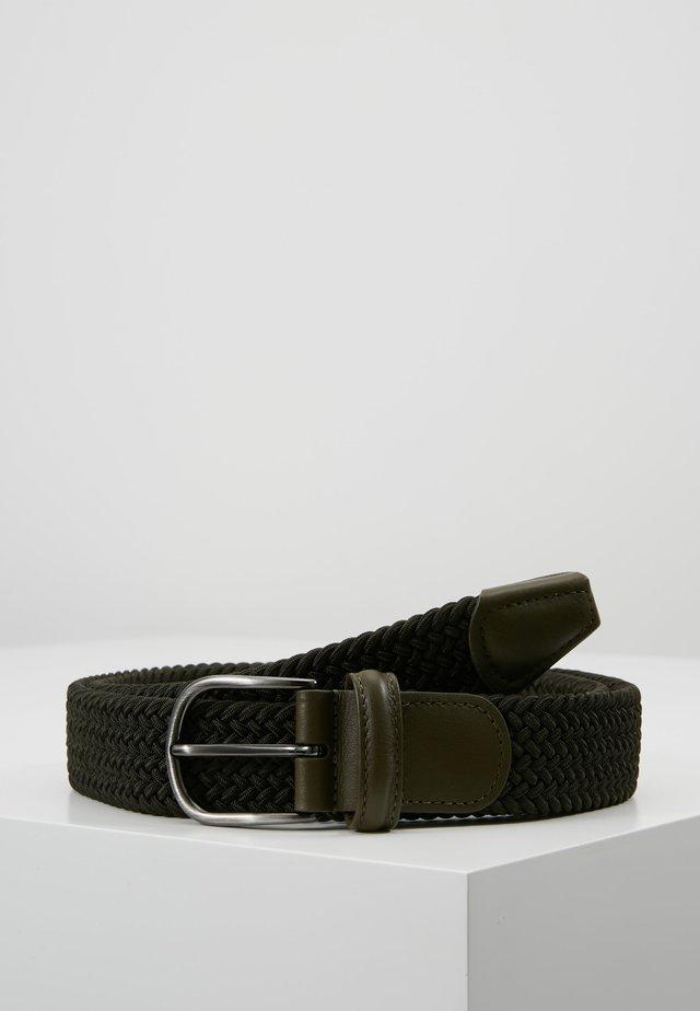 BELT - Pletený pásek - olive