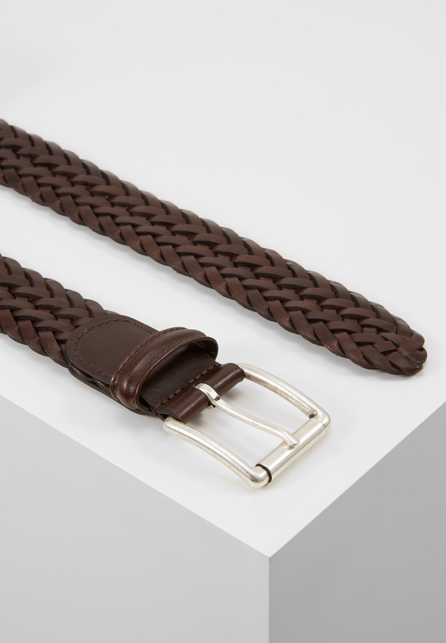 Anderson's Woven Belt - Flätat Skärp Dark Brown