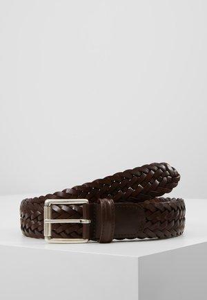 WOVEN BELT - Pletený pásek - dark brown