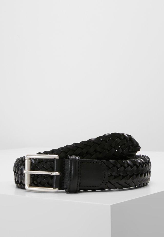 WOVEN BELT - Flettet belte - black