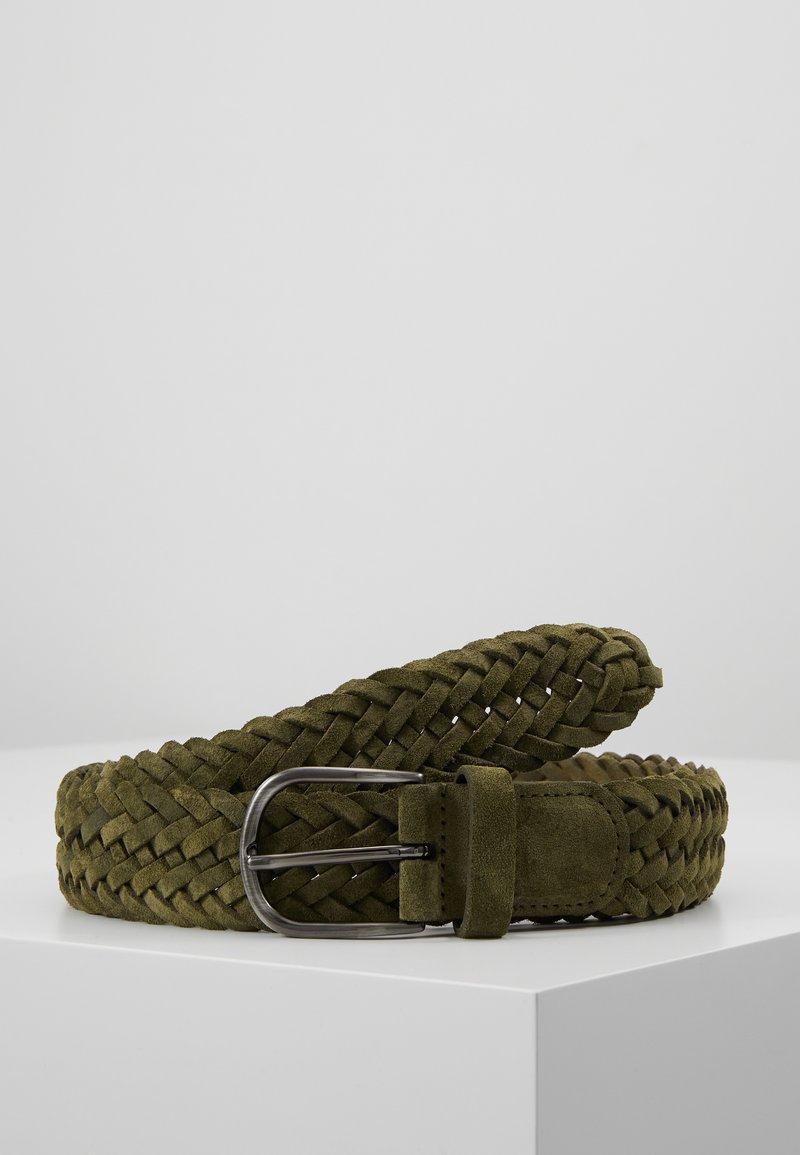 Anderson's - BELT - Braided belt - olive