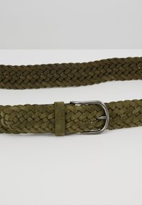 Anderson's - BELT - Braided belt - olive - 5