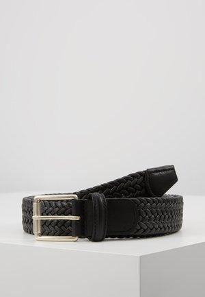 BELT - Braided belt - dark grey