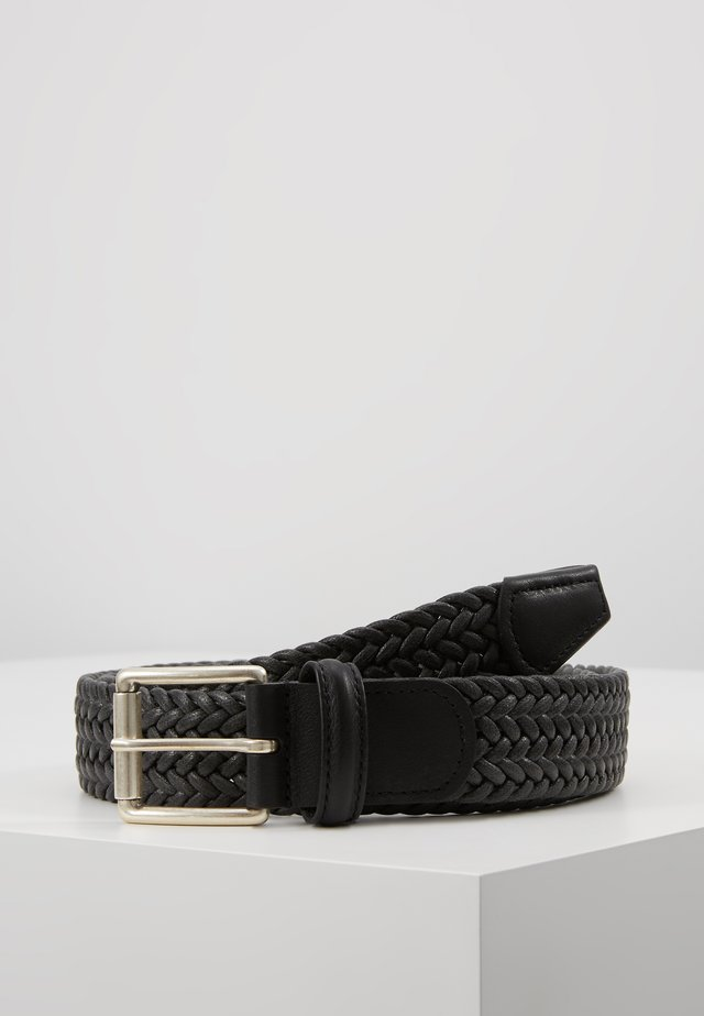 BELT - Braided belt - dark grey