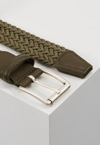 Anderson's - BELT - Braided belt - olive - 4
