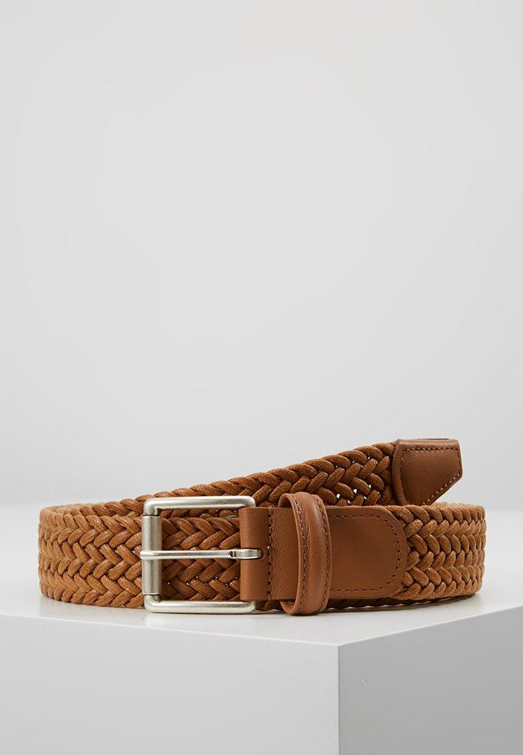 Anderson's - BELT - Braided belt - cognac