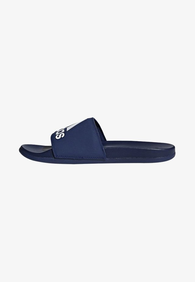 ADILETTE CLOUDFOAM PLUS LOGO SLIDES - Sandali da bagno - blue/white