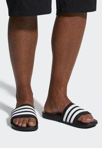 adidas Performance - ADILETTE CLOUDFOAM PLUS STRIPES SLIDES - Slippers - black/white - 0