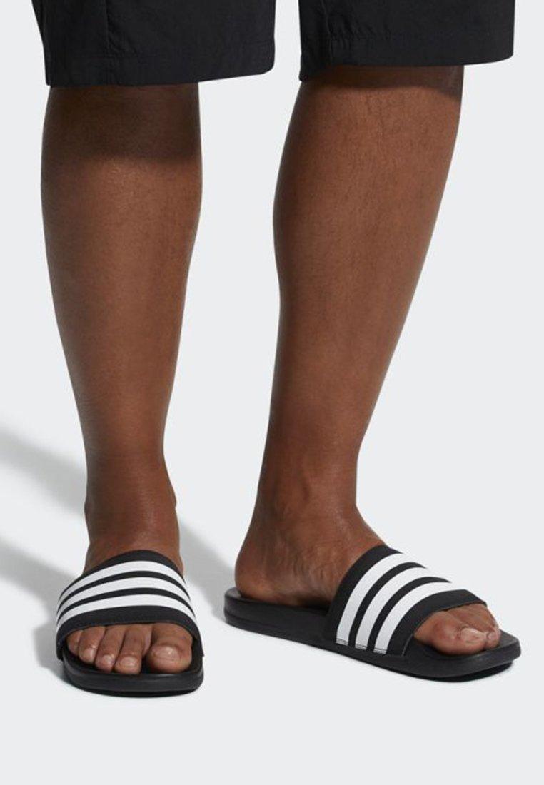 adidas Performance - ADILETTE CLOUDFOAM PLUS STRIPES SLIDES - Hausschuh - black/white