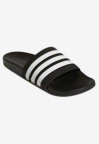 adidas Performance - ADILETTE CLOUDFOAM PLUS STRIPES SLIDES - Slippers - black/white - 3