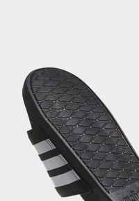 adidas Performance - ADILETTE CLOUDFOAM PLUS STRIPES SLIDES - Slippers - black/white - 9