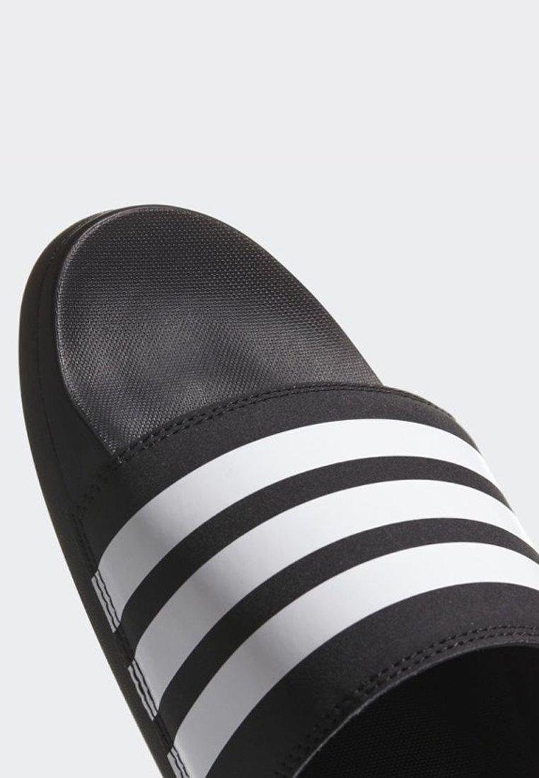 adidas Performance ADILETTE CLOUDFOAM PLUS STRIPES SLIDES - Kapcie - black/white