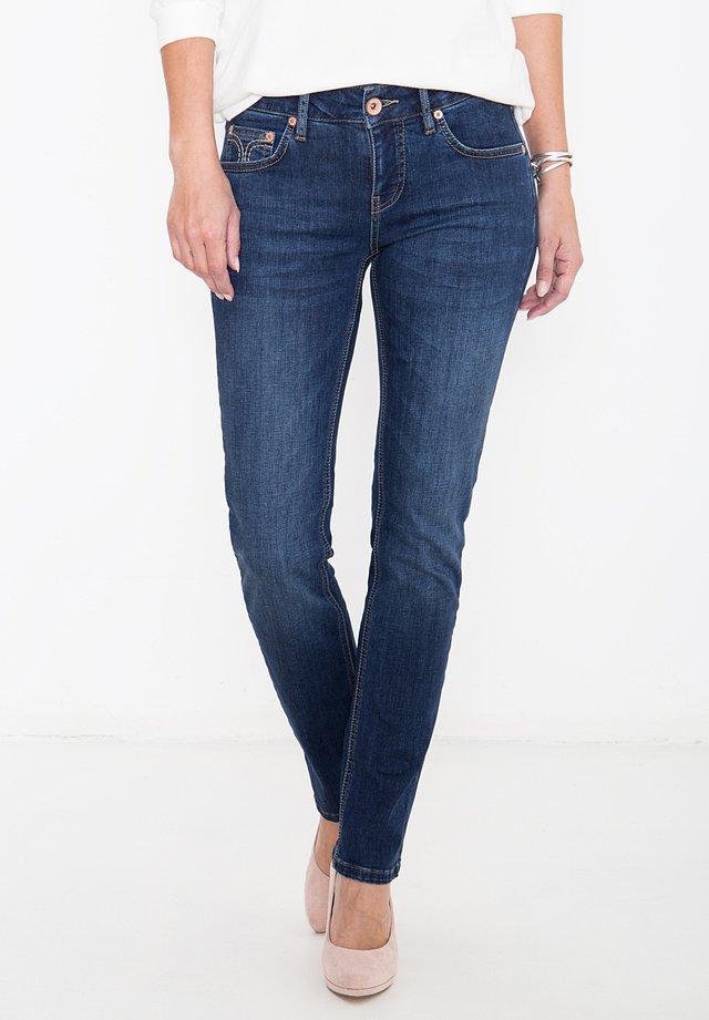 MIT ZIERS - Slim fit jeans - darkblue
