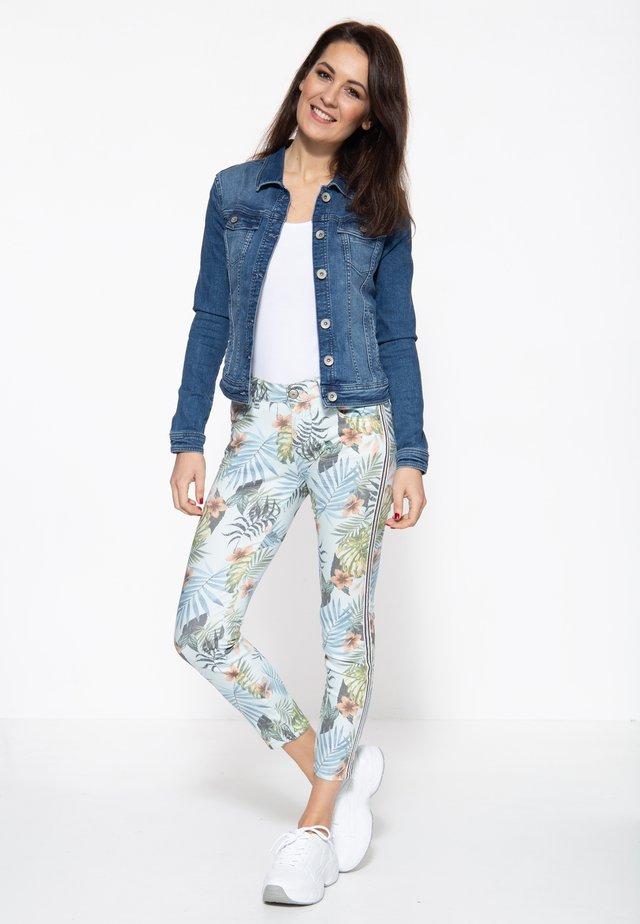 Slim fit jeans - gemustert