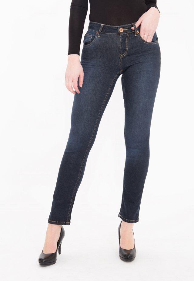STRAIGHT CUT JEANS MIT STRETCH STELLA - Slim fit jeans - darkblue