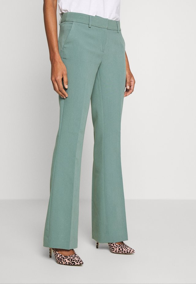 FLARENE - Trousers - steel green