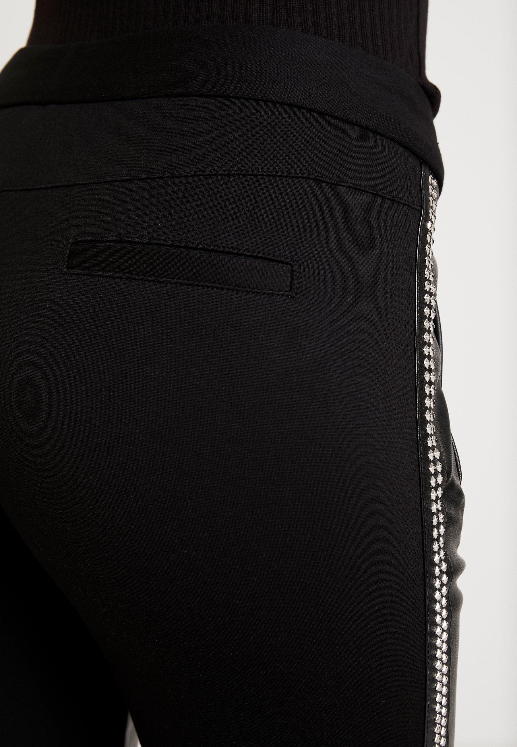 Aaiko SOSA STUDS - Spodnie materiałowe - black