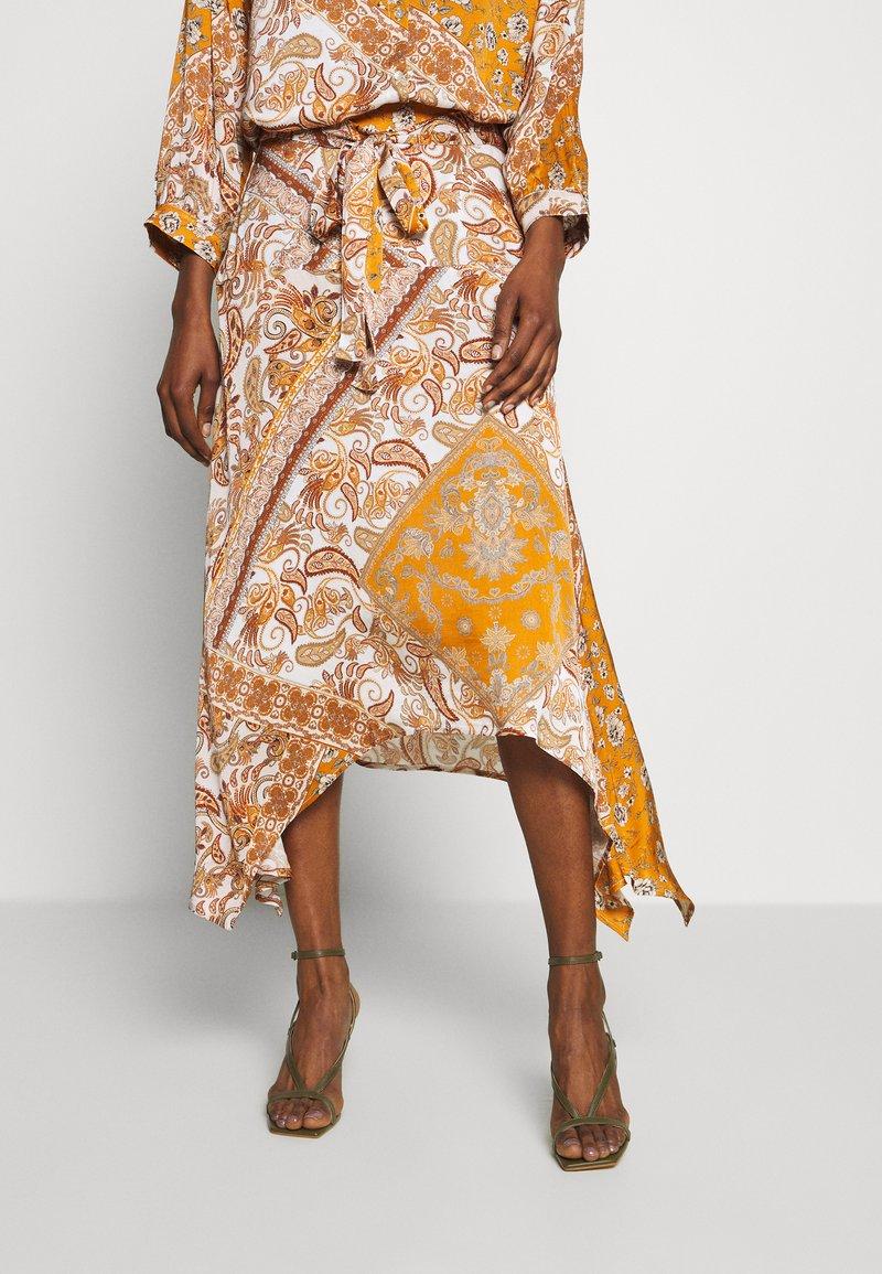 Aaiko - SURI VIS  - A-line skirt - sudan brown
