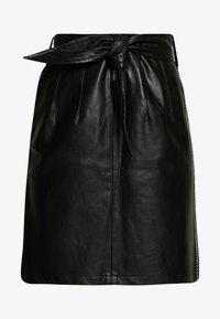 Aaiko - PATIA STUDS - A-line skirt - black - 3