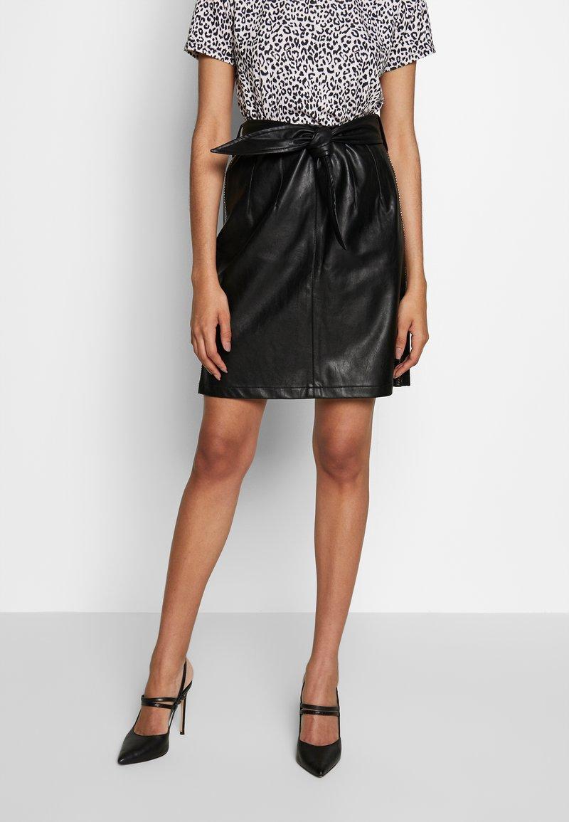 Aaiko - PATIA STUDS - A-line skirt - black