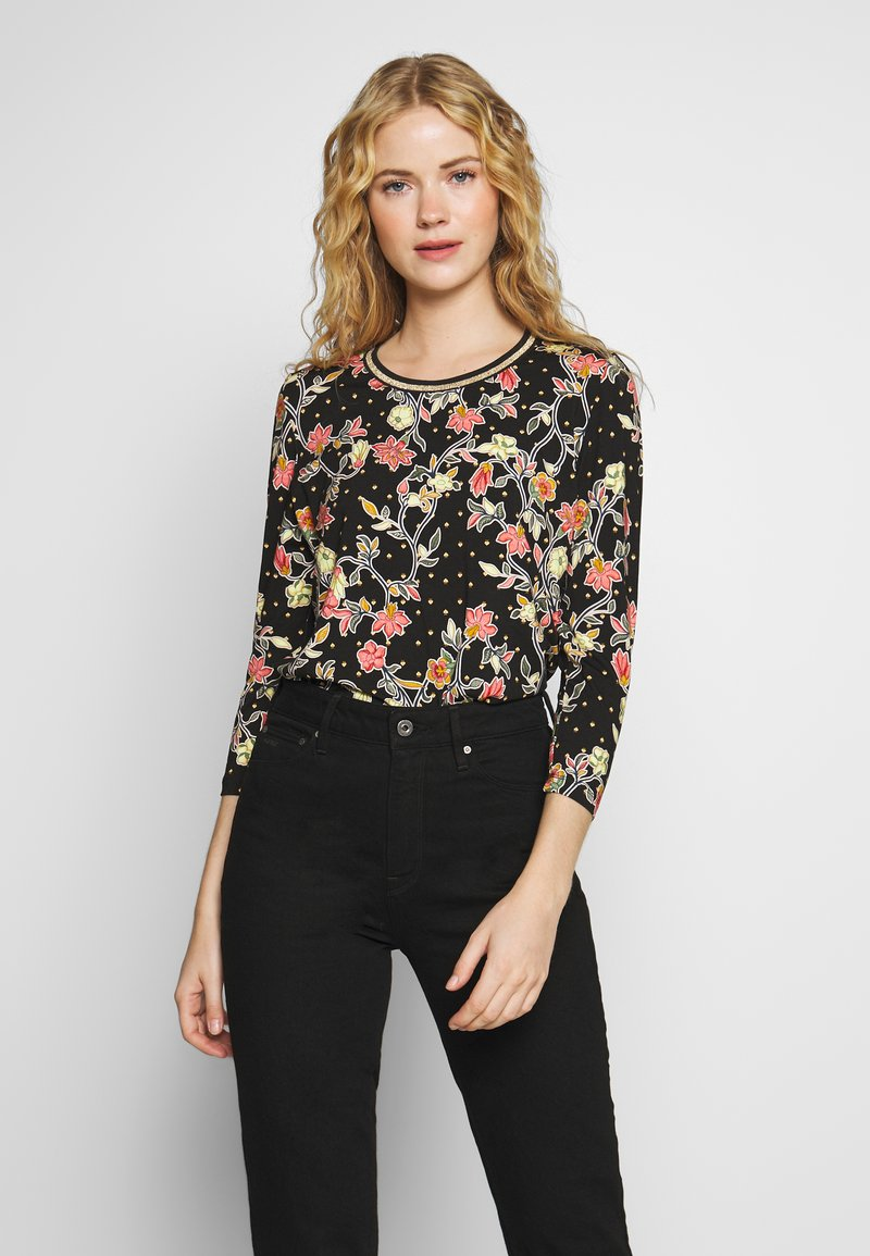 Aaiko - SINDY FLOWER - Long sleeved top - black