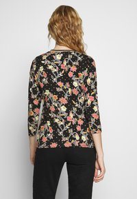 Aaiko - SINDY FLOWER - Long sleeved top - black - 2