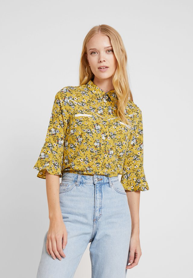 SILIE - Button-down blouse - golden olive