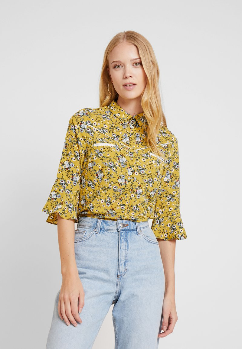 Aaiko - SILIE - Button-down blouse - golden olive
