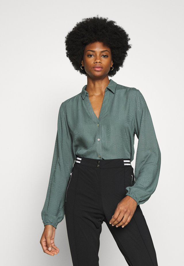 ROZA - Button-down blouse - steel green