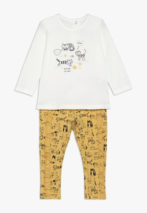 BABY OUTFIT PETITS CHATS SET - Trousers - bright yellow